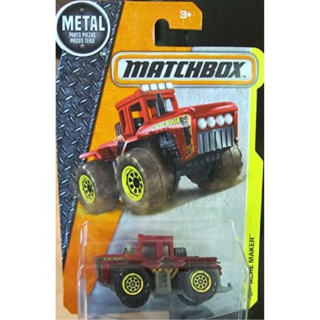 matchbox, 2016 mbx construction, acre maker tractor [red]