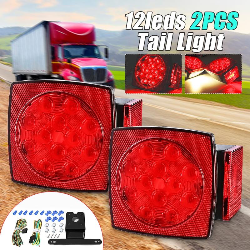 2pcs Led Boat Trailer Lights Kit Submersible Tail Light