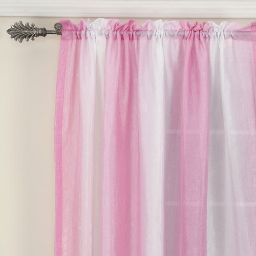 your zone crushed ombre curtain panel, pink jubilee