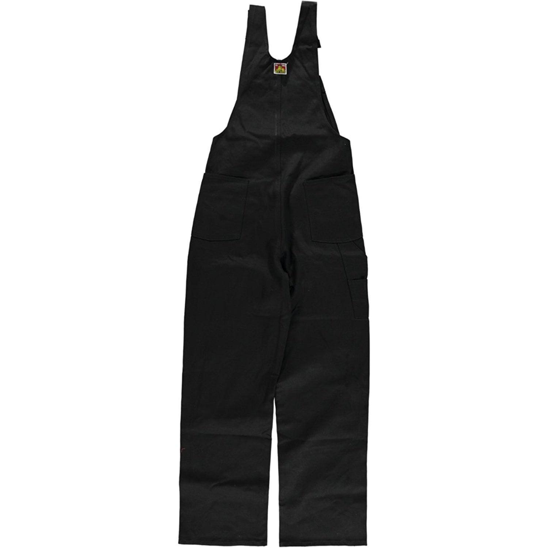 Men's Black Bib Overalls By Ben Davis