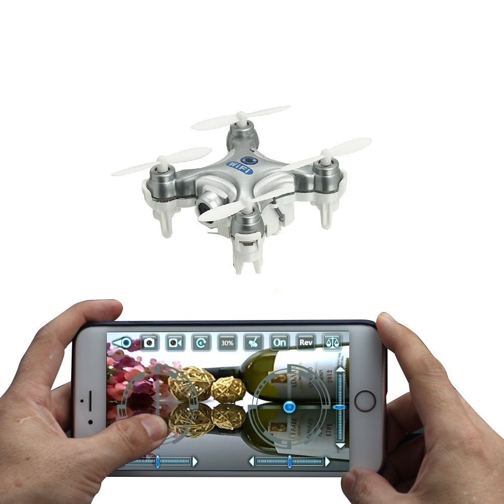 Cheerson CX-10W 4CH 2.4GHz 6 Axis Gyro iOS / Android APP Wifi Romote Control RC FPV Real Time Video Mini Quadcopter Helicopter Drone with 0.3MP HD Camera Silver