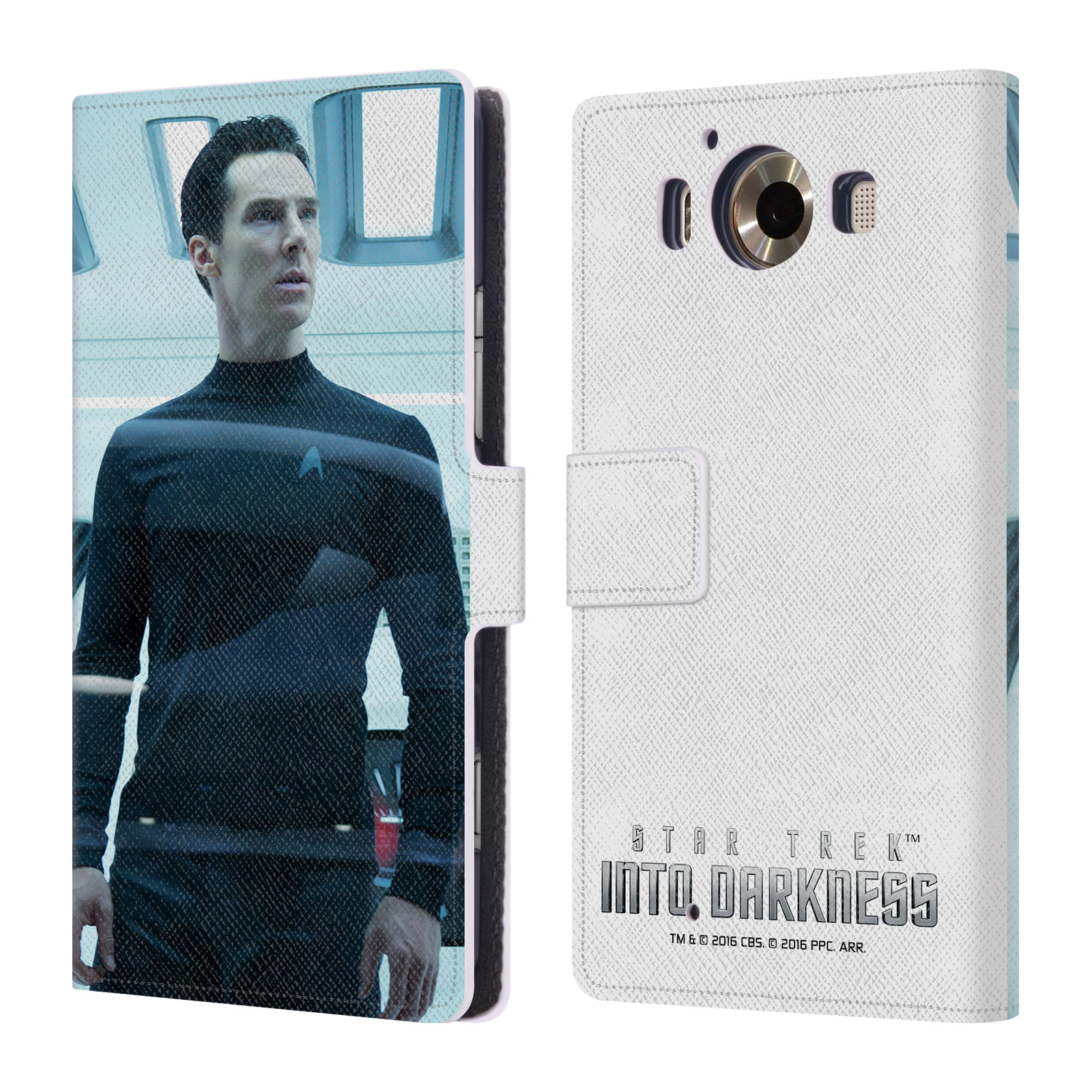 OFFICIAL STAR TREK MOVIE STILLS DARKNESS XII LEATHER BOOK WALLET CASE COVER FOR MICROSOFT NOKIA PHONES