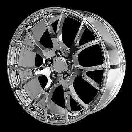 Replica 161C Hellcat 20x10 5x115 +18mm Chrome Wheel Rim 20