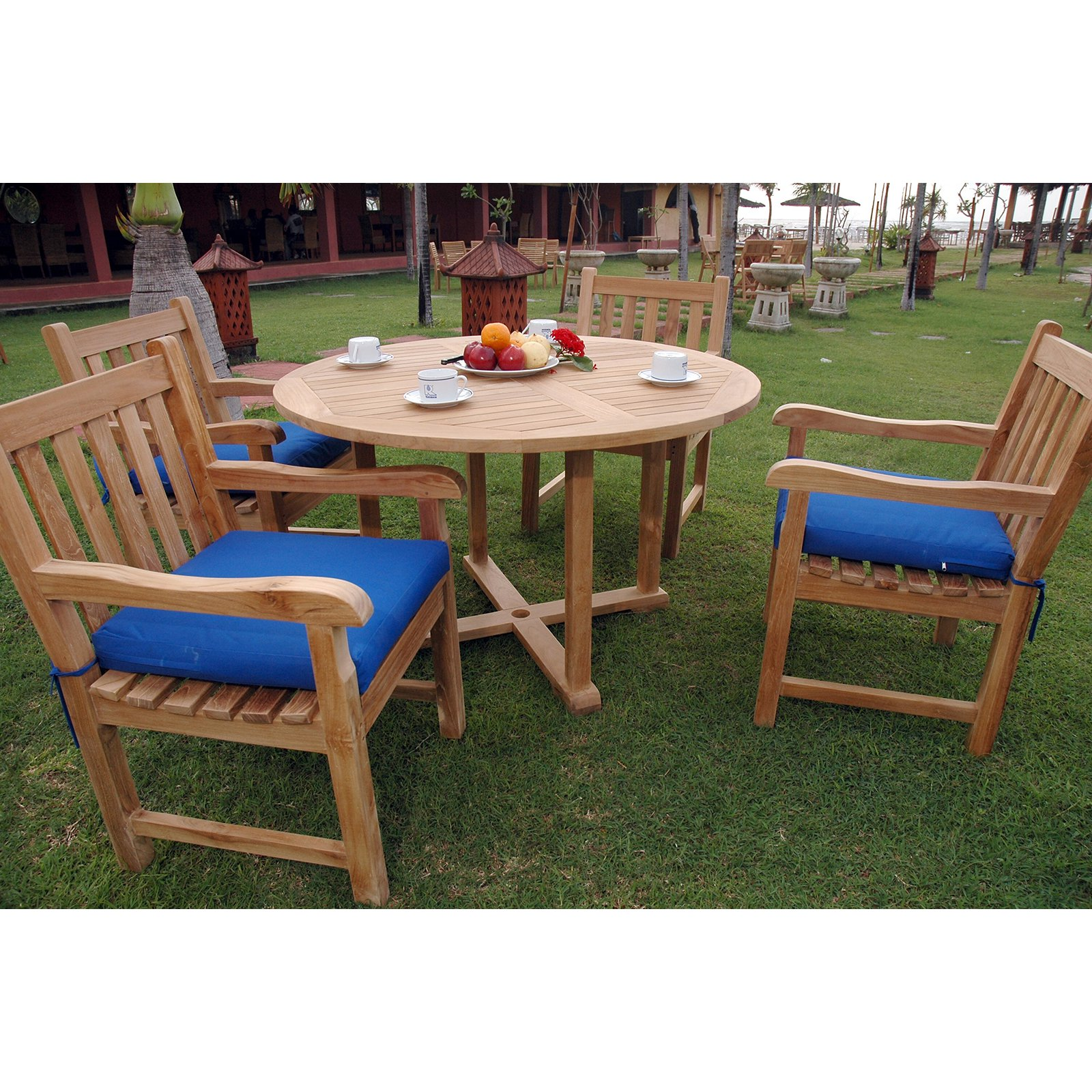Anderson Teak Classic 5 Piece Round Patio Dining Set