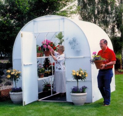 Gardeners Oasis Polyethylene Greenhouse Panel Thickness: 5 mm, Size: 8' H x 8.0' W x 8.0' D