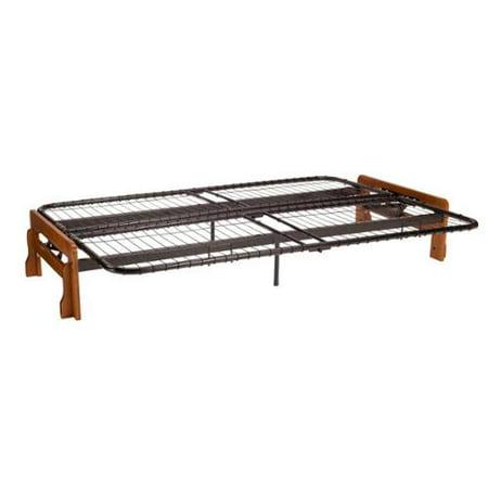 Boston armless futon frame full size frame only black for Walmart futon frame only