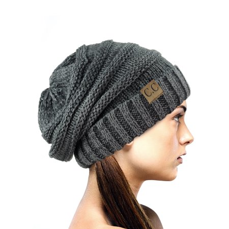 bc5d67247d51f C.C - NYfashion101 Exclusive Oversized Baggy Slouchy Thick Winter Beanie  Hat - Gray Mix - Walmart.com