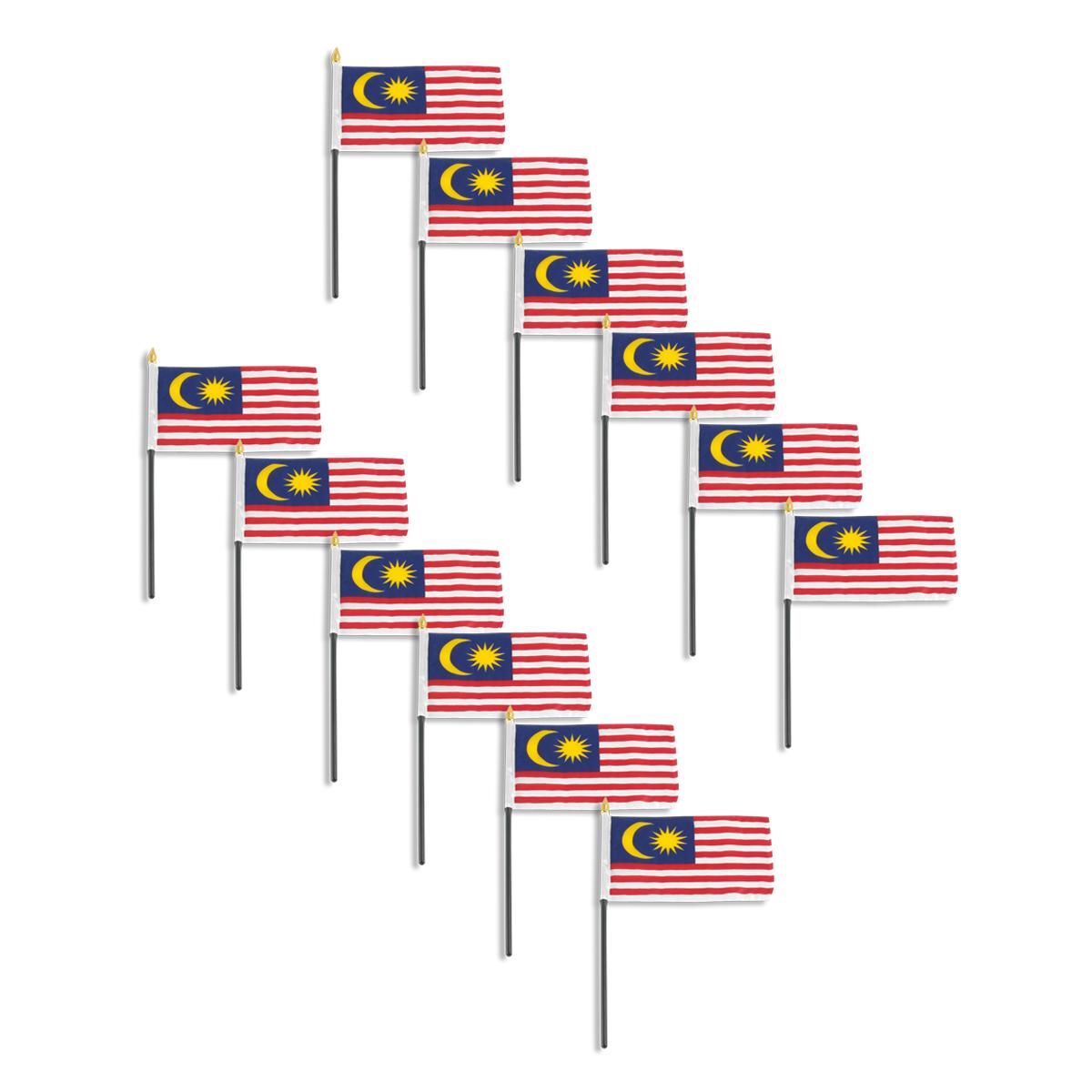Malaysia flag 4 x 6 inch - 12 PK