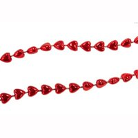 Miniature Tree Garland Red Hearts 9ft Length H9769-B2