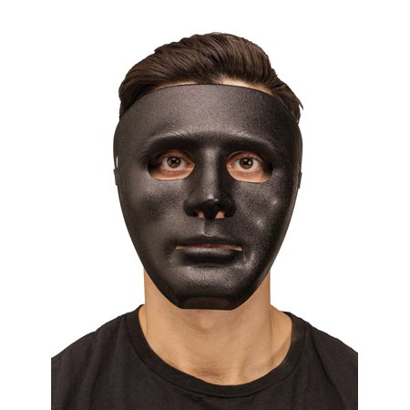 Blank Face Adult Plastic Purge Halloween Costume Mask