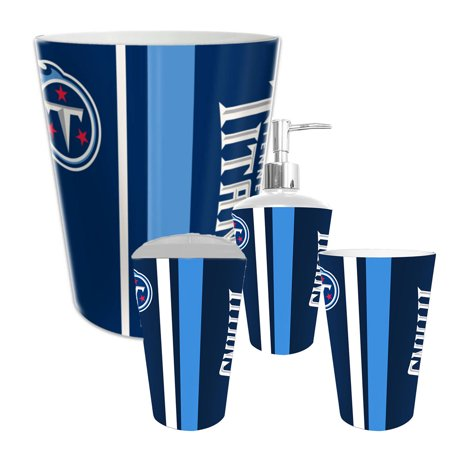 tennessee titans nfl complete bathroom accessories 4pc set