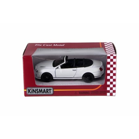 2010 Bentley Continental Supersports Convertible, White - Kinsmart 5353WW - 1/38 Scale Diecast Toy Car