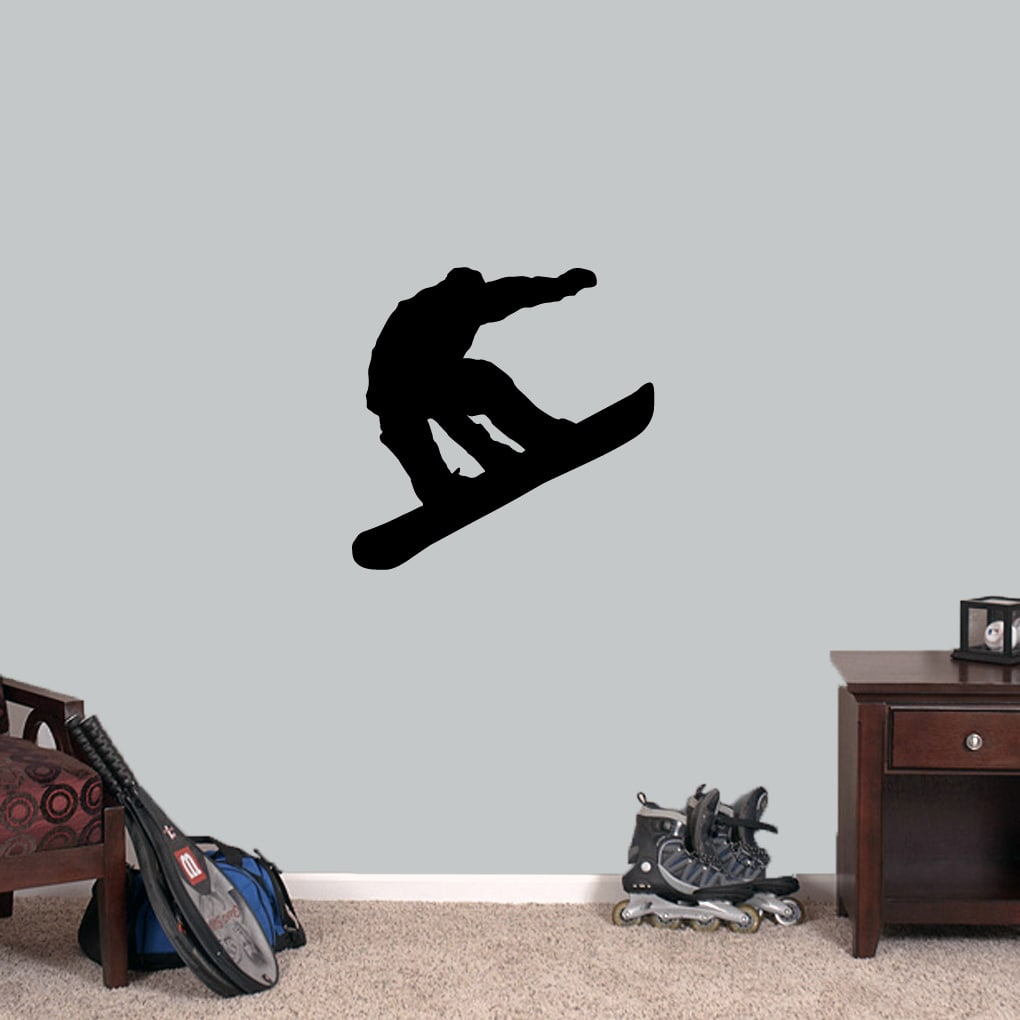 Sweetums Snowboarder 24-inch Wide x 24-inch Tall Wall Decal