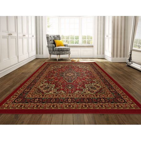 Slip Backing (Ottomanson Ottohome Collection Persian Heriz Oriental Design Non Slip Rubber Backing Area and Runner)