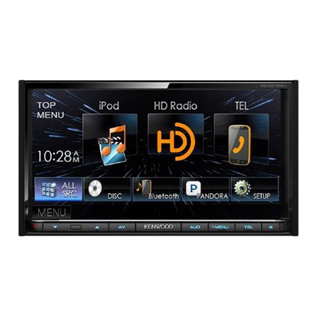 """Kenwood 6.95"""" Double Din Receiver w  USB, HD and built in Blueooth DDX672BH by"""