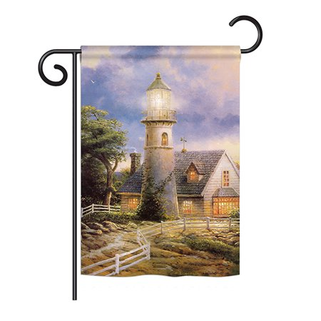 """Ornament Collection - Warm Lighthouse Coastal - Everyday Nautical Impressions Decorative Vertical Garden Flag 13"""" x 18.5"""" Printed In USA"""
