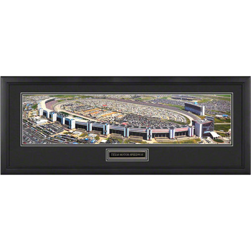 Texas Moto Speedway Framed Panoramic with Engraved Plate