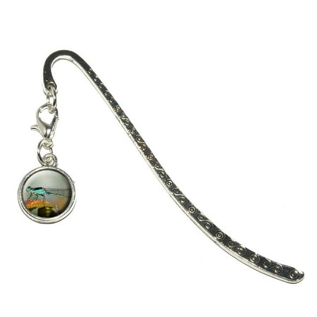 Blue Dragonfly   Dragon Fly Metal Bookmark With Charm