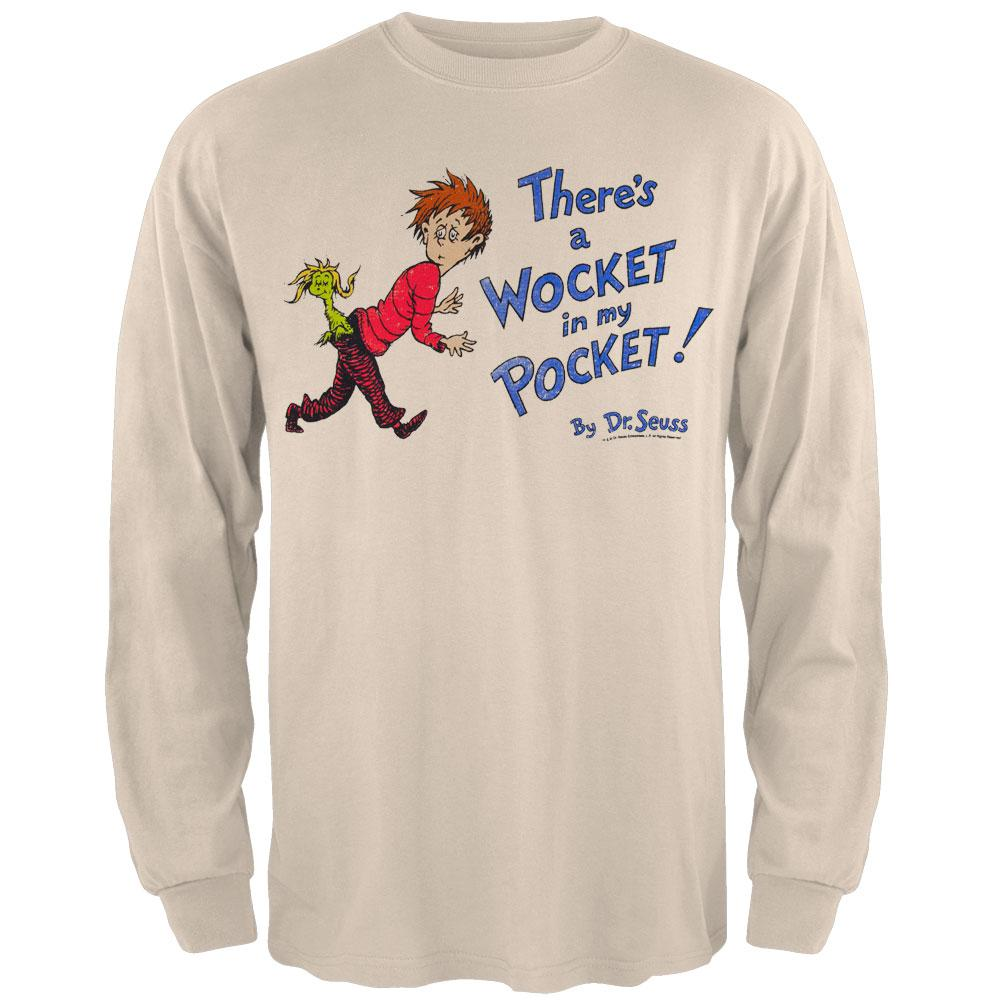 Seuss Dr Wocket Cover Distressed Long Sleeve T-Shirt