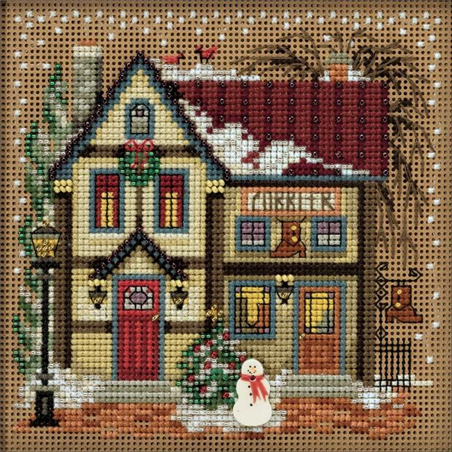 Needlework Crafts Embroidery DIY Counted Cross Stitch Kit Village Clock Tower
