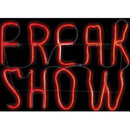 Freak Show LED Neon Sign Halloween - Halloween Decorations Signs