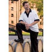 0940-4508 Pullover V-Neck Shirt White-Black 4Xl