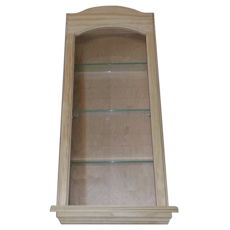 WG Wood Lawrence Niche 17W x 33.5H in. Curved Top Recessed Wall Niche