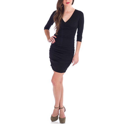 Penny Chic by Shauna Miller Women's Curvy Little Black Dress