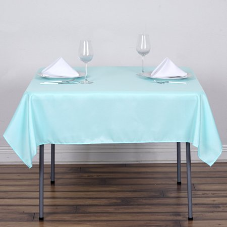 "Efavormart 54"" Seamless Polyester Square Tablecloth for Kitchen Dining Catering Wedding Birthday Party Decorations Events"