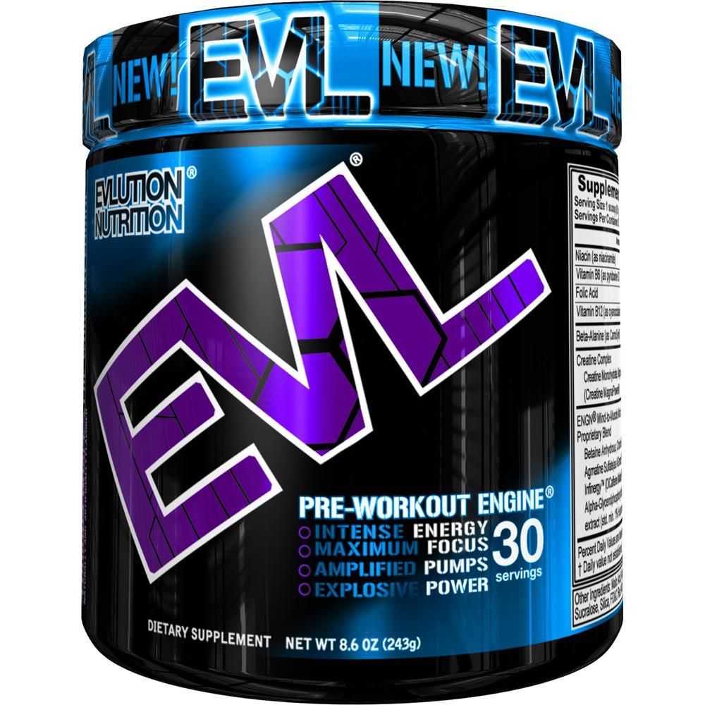 Evlution Nutrition ENGN Pre Workout Powder, Furious Grape, 30 Servings