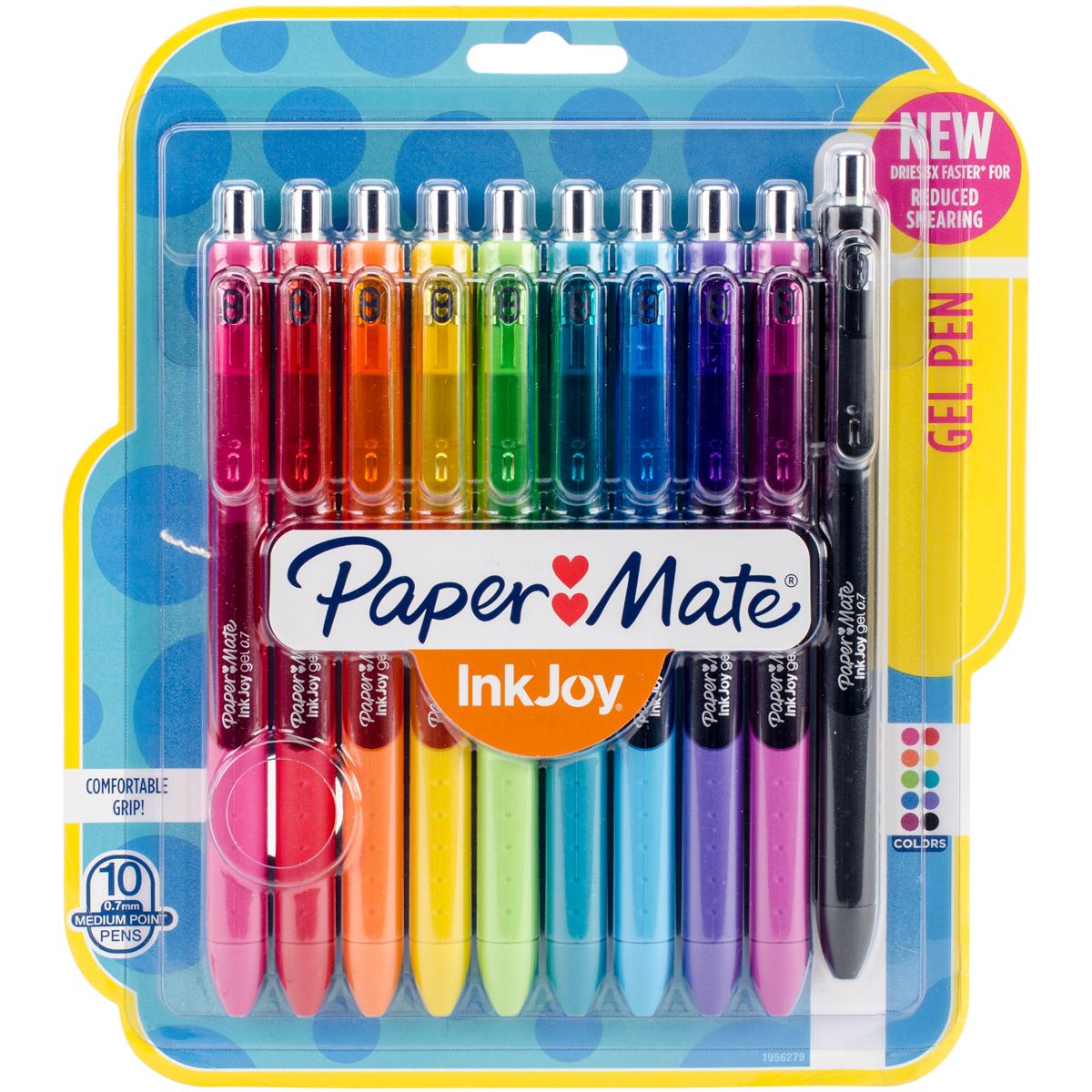 Paper Mate Inkjoy Gel Pens .7mm 10/Pkg Assorted