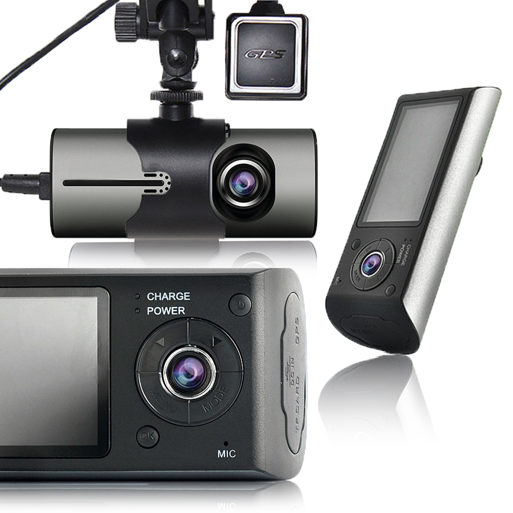 """Indigi BlackBox XR300 2.7"""" LCD HD Dual Lens (Front + Back) Wide Angle Dash"