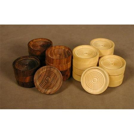 Worldwise Imports Sheesham/Boxwood 1.5'' Checkers Pieces ...