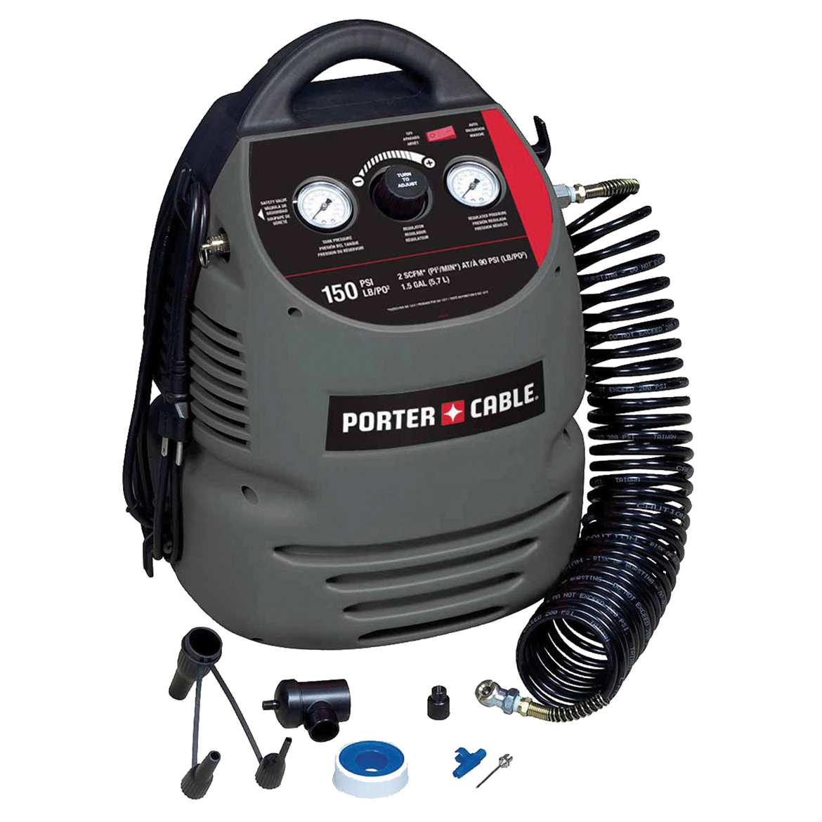 Porter Cable CMB15 120-Volt 1.5-Gallon Electric Fully Shourded Air Compressor