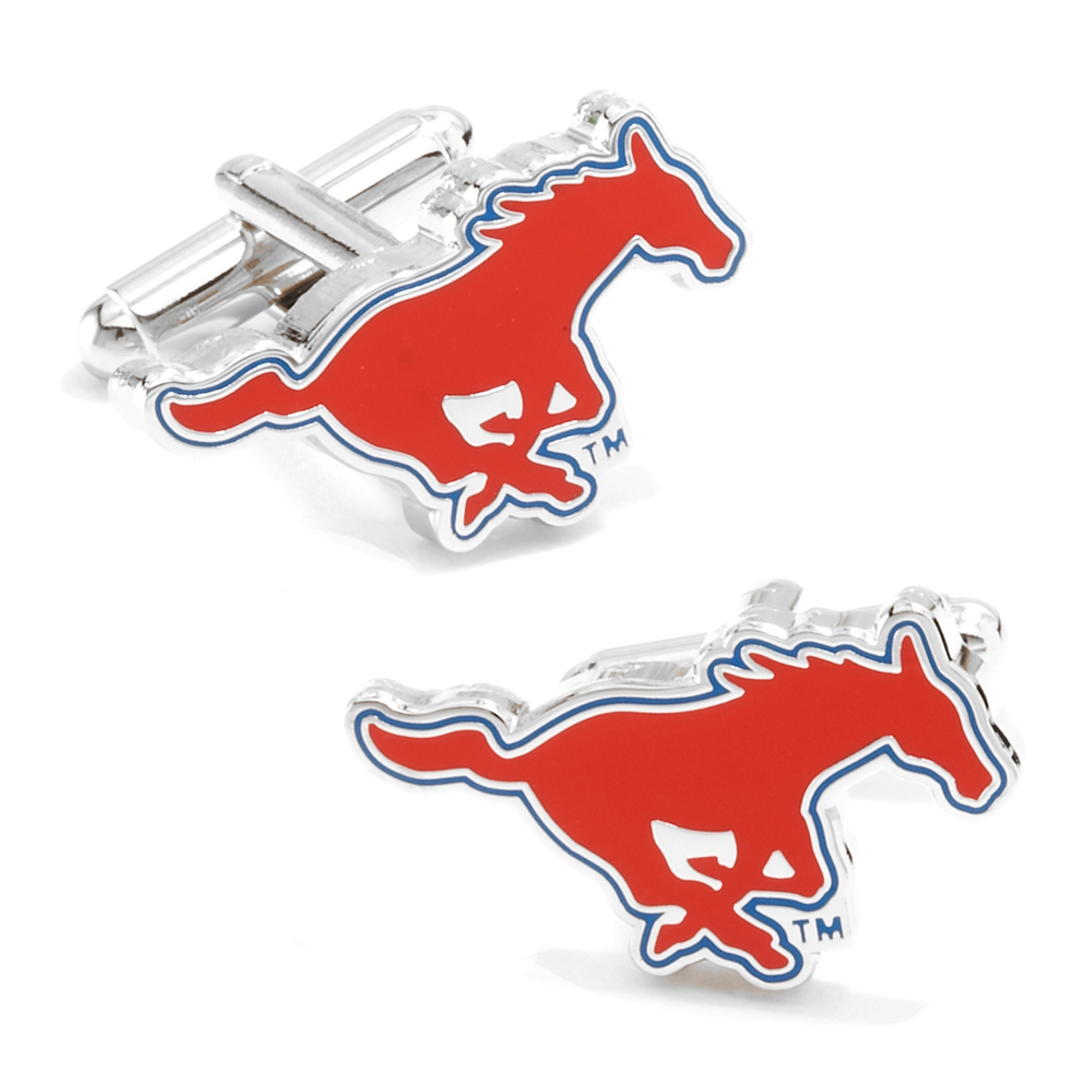 NCAA Mens SMU Mustangs Cufflinks w/ New Collectible Gift Box PD-SMU-SL