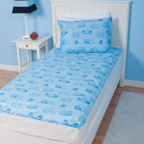 Disney Cars Full Size Non-Quilted Mattress Protector, Blue