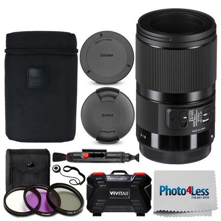 Sigma 70mm f/2.8 DG Macro Art Lens for Canon EF + 49mm 3 Piece UV Filter Kit + Memory Card Case (24 Slots) + Lens Cleaning Pen + Photo4Less Cleaning Cloth + Lens Cap Holder – Deluxe Accessory (Sigma 24 70 2-8 Price In Pakistan)