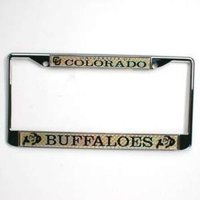 Colorado Buffaloes Metal License Plate Frame w/Domed Insert