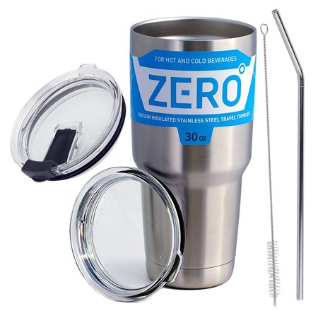 Stainless Steel Tumbler with Lid, Double Wall Vacuum Insulated Travel Mug for Hot and Cold Drink by Zero Degree (30oz