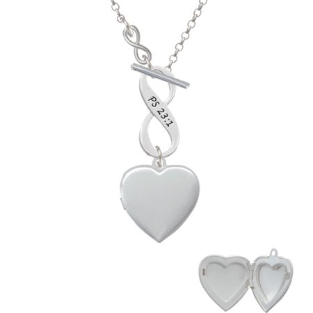 Heart Locket - To Infinity Psalm 23:1 Toggle - Locket Toggle