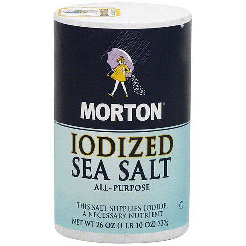 Morton Iodized Sea Salt, 26 oz (Pack of 12)