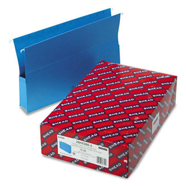 Smead 2 Capacity Closed Side Flexible Hanging File Pockets 25/Box