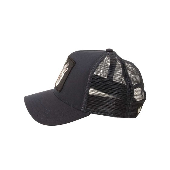 eb90862ec4973 Features embroidered patch with wolf design. Adjustable snap back for a  customizable fit. Goorin Bros. Mens Lone Wolf Hat in Navy