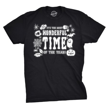Mens Its The Most Wonderful Time Of The Year Tshirt Funny Halloween Tee For Guys (Halloween Most Wonderful Time)