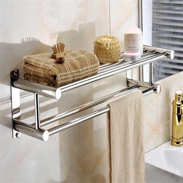 Spptty Stainless Steel Double Towel Bar