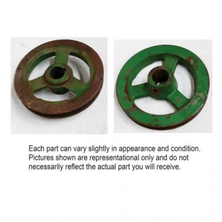 Rotary Screen Drive Shaft Pulley, Used, John Deere, H89218 Rotary Screen Drive