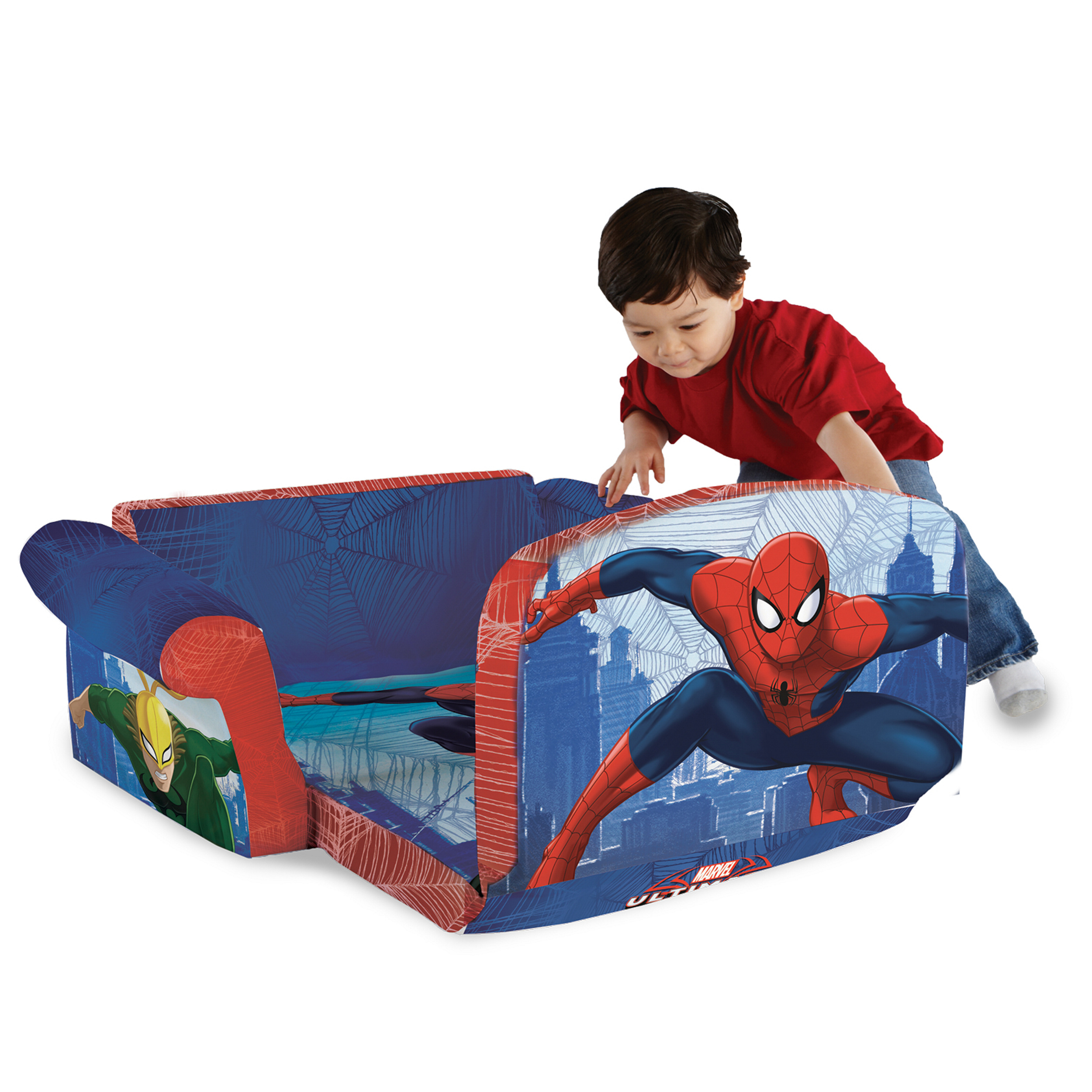Merveilleux Top Quality Marshmallow Marvel Spider Man Flip Open Foam Sofa Kids Furniture