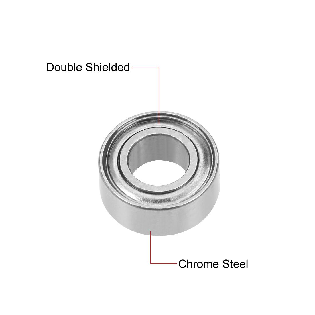 "R155ZZ Deep Groove Ball Bearing 5/32""x5/16""x1/8"" Shielded GCr15 Bearings 2pcs - image 3 of 4"