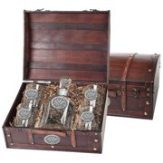 University of Virginia Cavaliers Decanter Set Whiskey Bottle and Glasses by Heritage Pewter