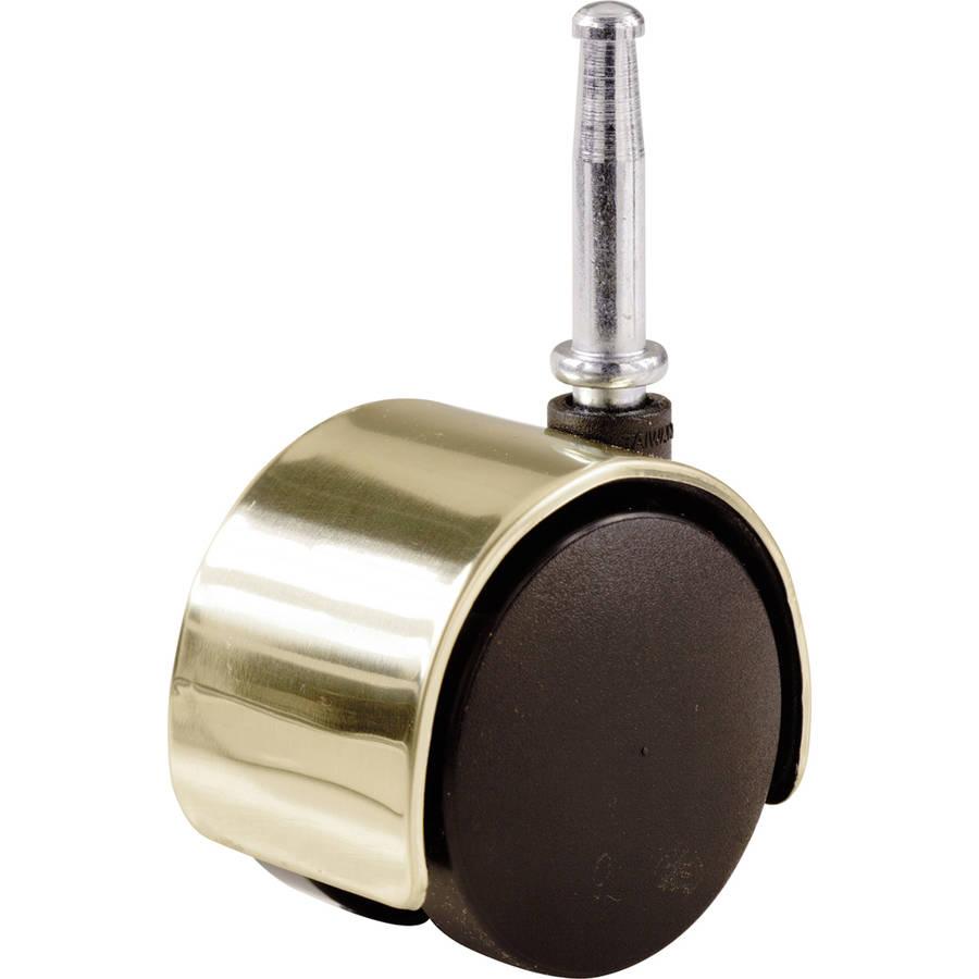 """Shepherd 9726 2"""" Bright Brass Twin Wheel Caster"""
